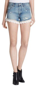 Free People Cut Off Shorts Daisy Wash Light Blue