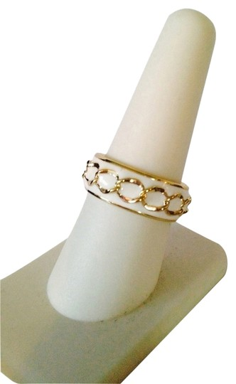 Preload https://item1.tradesy.com/images/whitegold-enamel-and-chain-ring-size-7-2098025-0-0.jpg?width=440&height=440