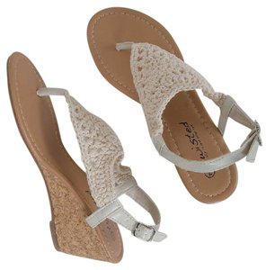 Twisted Sandals Crochet Wedges