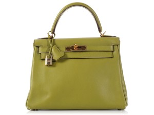 Hermès Green Hr.l0110.05 Swift Leather Ghw Satchel