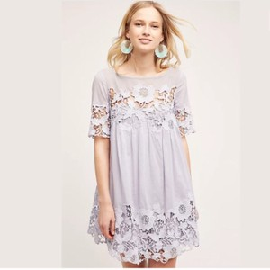 Anthropologie short dress Lilac on Tradesy