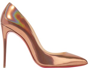 Christian Louboutin Pigalle Follies Louboutin Metallic Pigalle Follies 100 Gold Pumps