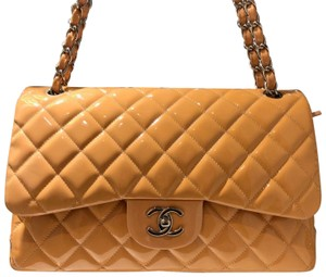 Chanel Double Flap Jumbo Quilted Cream Shoulder Bag