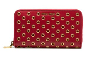 Miu Miu Leather Red Clutch