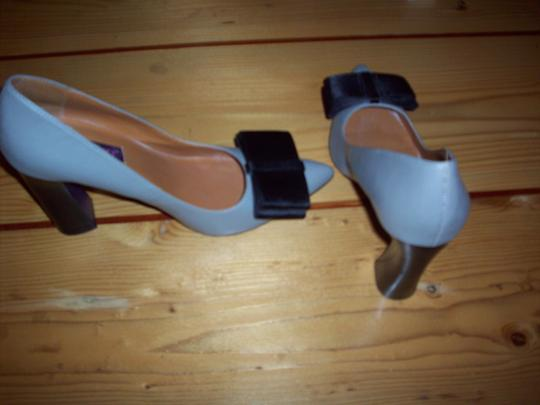 Mojo Moxy Grey with Black Bow Pumps