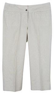 Chico's Size 1.5 Size 10 Size M Capris beige and white