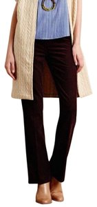 Anthropologie Capri/Cropped Pants red maroon burgundy