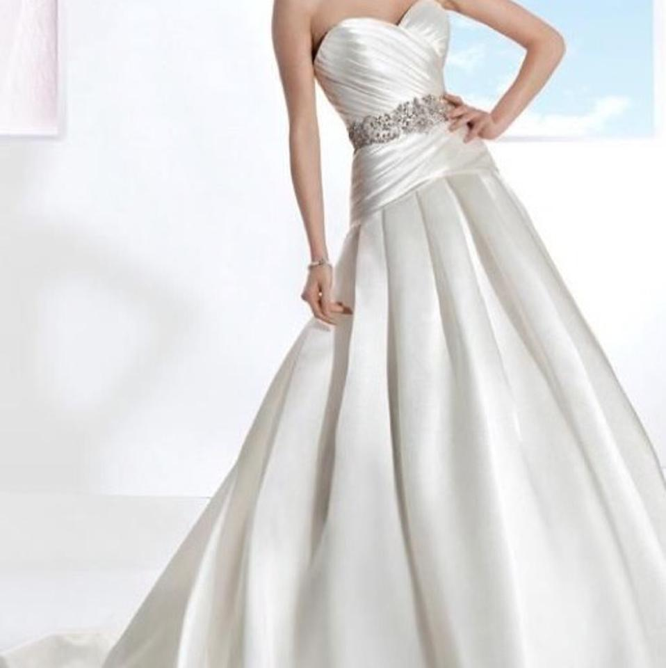 Diamond White Traditional Wedding Dress Size 8 M Tradesy
