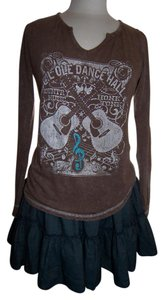 Cowgirl Justice Boho Skirt Dark Denim