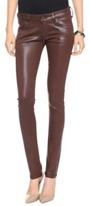 Citizens of Humanity Coated Skinny Brown Classic Skinny Jeans-Coated