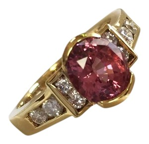 Other Pink Garnet and Diamond Ring