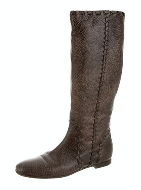 Item - Brown Leather Round Boots/Booties Size US 7.5 Narrow (Aa, N)