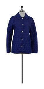 Coach Blue Monogram Quilted Jacket