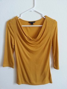 Banana Republic Scoop Neck Top Yellow