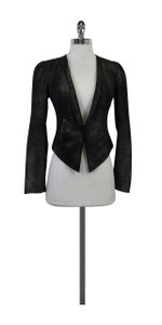 Of Two Minds Suede Sparkly Black Jacket