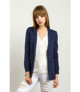 TCEC Long Sleeve Lined Navy Blazer