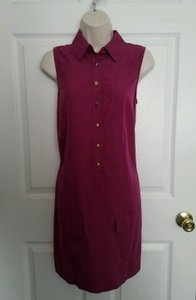 Sharagano short dress Orchid Sleeveless Button Front Collared Shirt on Tradesy