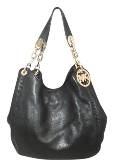 Michael Kors Fulton Large Black Leather Shoulder Bag - Tradesy 44fb2af9be1f7