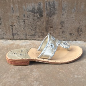 Jack Rogers Gold and Silver Sandals