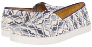 TOMS Blue/ Off White Flats
