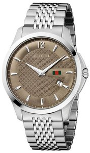 Gucci Gucci G-Timeless Stainless Steel Mens Watch YA126310