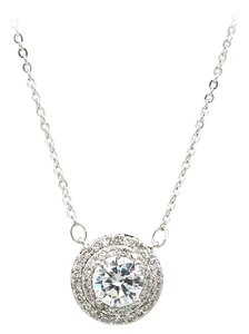 Ocean Fashion Sparkling crystal clavicle silver necklace