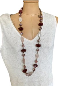 Stephen Dweck Stephen Dweck Round Shell Pink Crystal Carnelian Necklace