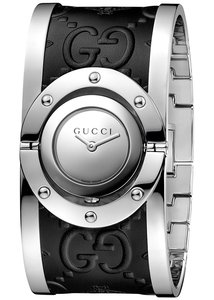 Gucci Gucci Twirl Stainless Steel And Leather Ladies Watch YA112441
