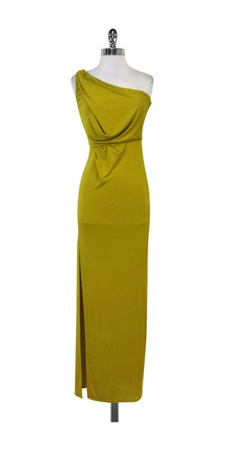 Item - Yellow Mustard One Shoulder Long Casual Maxi Dress Size 00 (XXS)