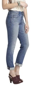 Anthropologie Distressed Unique Rare Sold Out Bohemian Straight Leg Jeans-Medium Wash