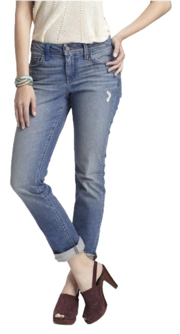 Item - Blue Medium Wash Holding Horses Distressed Straight Leg Jeans Size 27 (4, S)