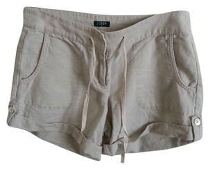 J.Crew Linen Cuffed Pockets Cuffed Shorts Khaki
