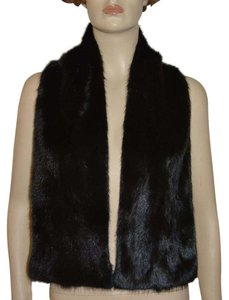 Gucci NEW GUCCI $2200 BLACK FUR MINK LONG STOLE SCARF MADE IN ITALY