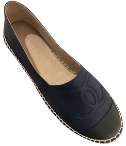 Chanel Black/Blue Flats