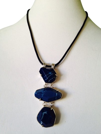 Preload https://img-static.tradesy.com/item/2098145/kenneth-cole-blue-silver-geometric-stone-long-necklace-0-0-540-540.jpg
