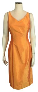 Ann Taylor Dupioni Silk Mother Of Bride Sheath Cocktail Dress
