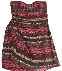 Parker short dress Pink and gray on Tradesy