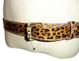Betsey Johnson Leopard Cheetah Animal Print Belt Size M Medium