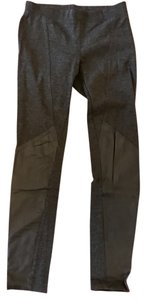 DKNY Leather Designer Leather Pant Gray Leggings