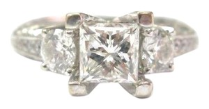 Other Fine 18Kt Princess Cut Diamond White Gold Engagement Ring 1.98CT EGL U
