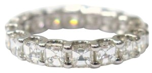 Other Fine Asscher Cut Diamond Eternity Ring 3.75Ct WG Sz4.5