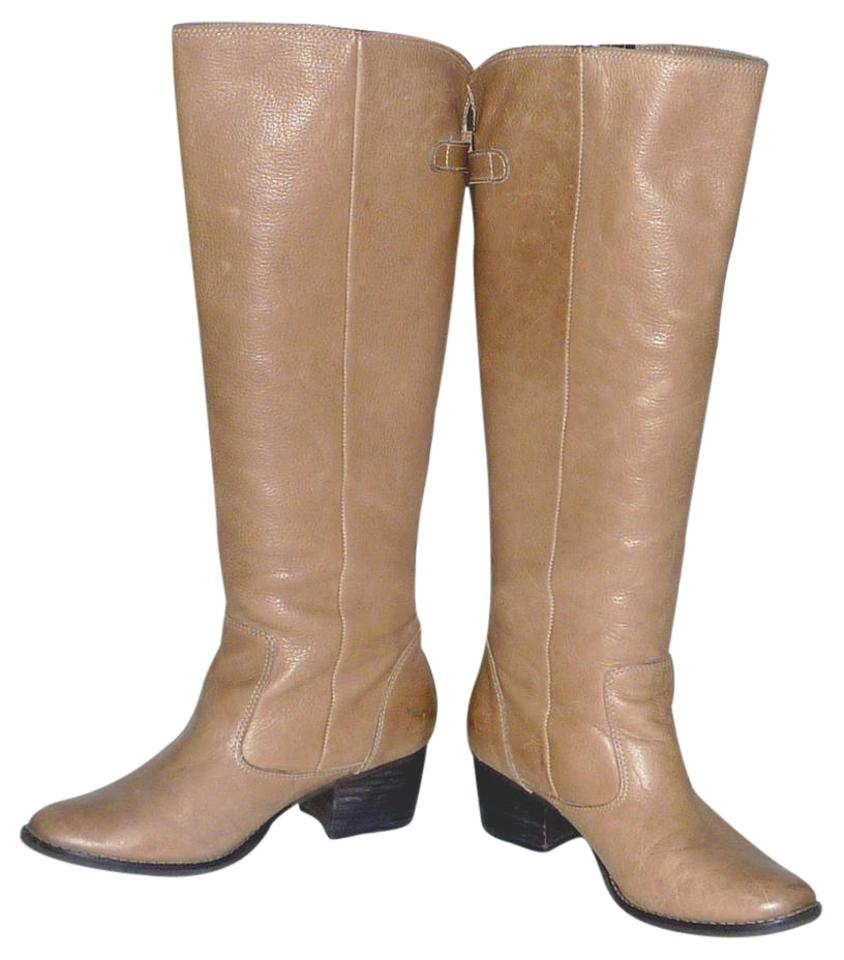 Matisse Beige Boots/Booties Beige/Tan Knee High Leather Boots/Booties Beige 9f6adb
