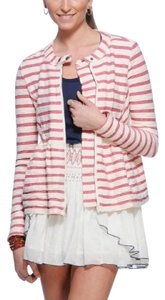 Free People Ivory Red Stripe Jacket
