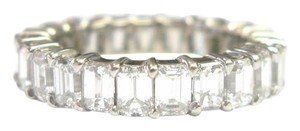 Other Fine Emerald Cut Diamond Shared Prong Eternity Band Ring WG 3.70CT Sz6