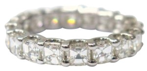 Other Fine Asscher Cut Diamond Eternity Ring 4.20Ct White Gold 14KT Sz8