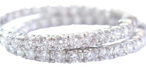 Other Fine Round Cut Diamond Inside Out Hoop Earrings 52-Stones 4.16CT 1.5
