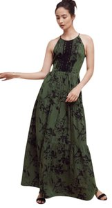 Green Motif Maxi Dress by Anthropologie