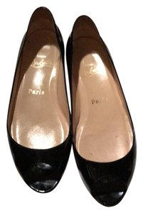 Christian Louboutin black patent leather flats black Flats