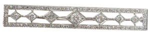 Other Platinum Vintage Old European Cut Diamond Pin/Brooch 2.94Ct