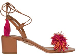 Aquazzura Wild Thing Fringed Suede Wild Thing Pumps Brown Sandals